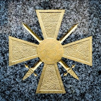 Croix de guerre dorée à la feuille d'or