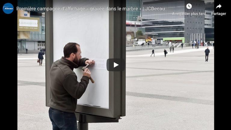campagne publicitaire gravée dans le marbre pour les Notaires de France