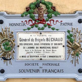 Plaque commémorative restaurée