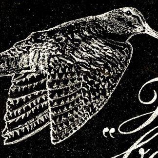 plaque funéraire noir en granit poli gravée à la main